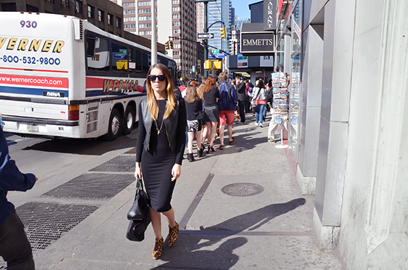 the LBD meets Times Square | Outfit